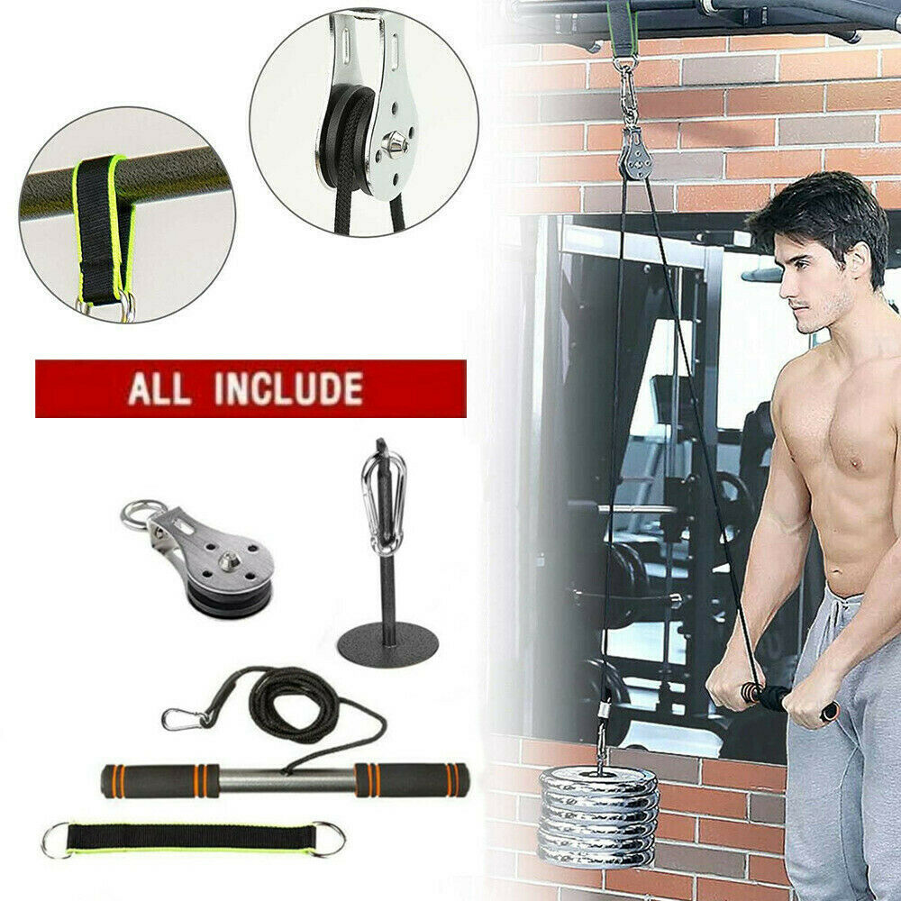 XHZY Home Workout Fitness Pulley Cable System DIY Loading Pin Lifting Tricceps Rope Machine Adjustable Length Gym Sports Accessories