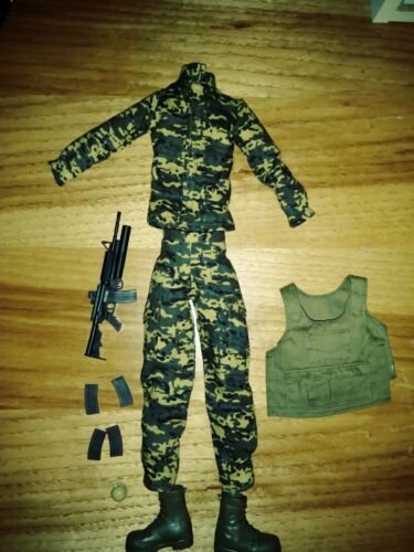 AVA STARS SOLDIER CLOTHES AND ACCESSORIES FIT BARBIE AND KEN DOLLS