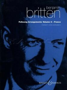 Benjamin Britten Chanson Folk Arrangements Medium Voice Volume 2 France Sheet Music-afficher Le Titre D'origine Faire Sentir à La Facilité Et éNergique