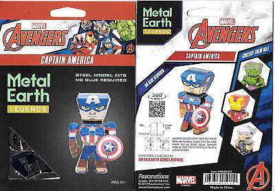 Variety of 4 Marvel Avengers Metal Earth 3D Steel Model Kits