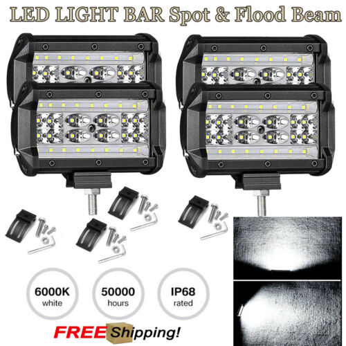 4x 5 inch 84W Car Truck LED Work Spot Light CREE Driving Lamp SUV Super Bright