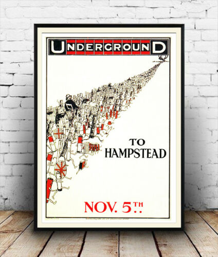 Hampstead Old Travel Poster reproduction