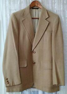 Vintage 100/% Silk Camel Basic Blazer