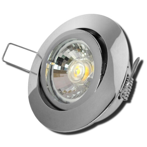 230V LED Einbaustrahler 1-10Set Gu10 7W Einbauspots Dimmbar Feuchtraum geeignet