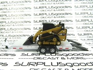 Diecast-Masters-1-64-Scale-LOOSE-CAT-297D2-SKID-STEER-TRACK-LOADER-w-Trailer