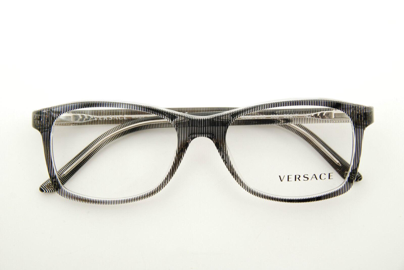 8e4f77fd3511 Buy Versace Ve 3155 933 Black clear RX Eyeglasses 52mm NWC online
