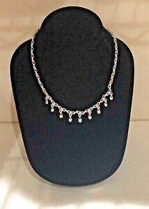 Judith-Ripka-Diamond-Authentic-Necklace-16-034-18K-White-Gold-750