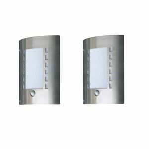 Outdoor-Wall-Door-Entrance-Light-60W-With-PIR-Motion-Sensor-Brushed-Steel-x2-PK