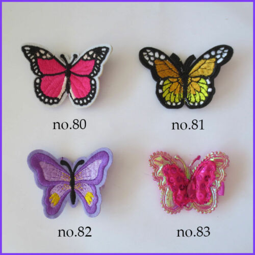 200 Embroidery Ultrasonic Embossing Pearl Butterfly Clip Accessories Wholesale