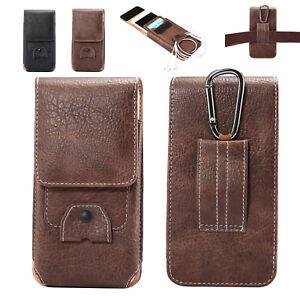 aa35b76c0a5d Men s Vertical Belt Clip Holster Leather Pouch Waist Bag Case Cover ...