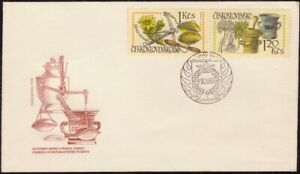 CZECHOSLOVAKIA-1971-Int-Pharmaceutical-Cong-2v-only-PART-FDC-unaddressed-D8690