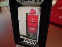 80TH ANNIVERSARY FUEL CAN DESIGN STREET CHROME ZIPPO LIGHTER MINT IN BOX 2012