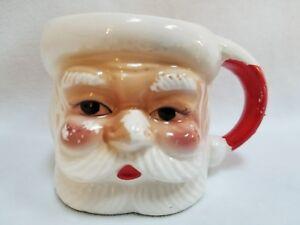 Vintage-Ceramic-Christmas-Santa-Claus-Coffee-Mug-Tea-Cup-Red-and-White-Japan