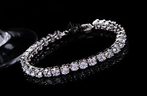 5-00Ct-Diamond-Tennis-Bracelet-6-5-034-1-Row-Round-Diamonds-14K-White-Gold-Toned