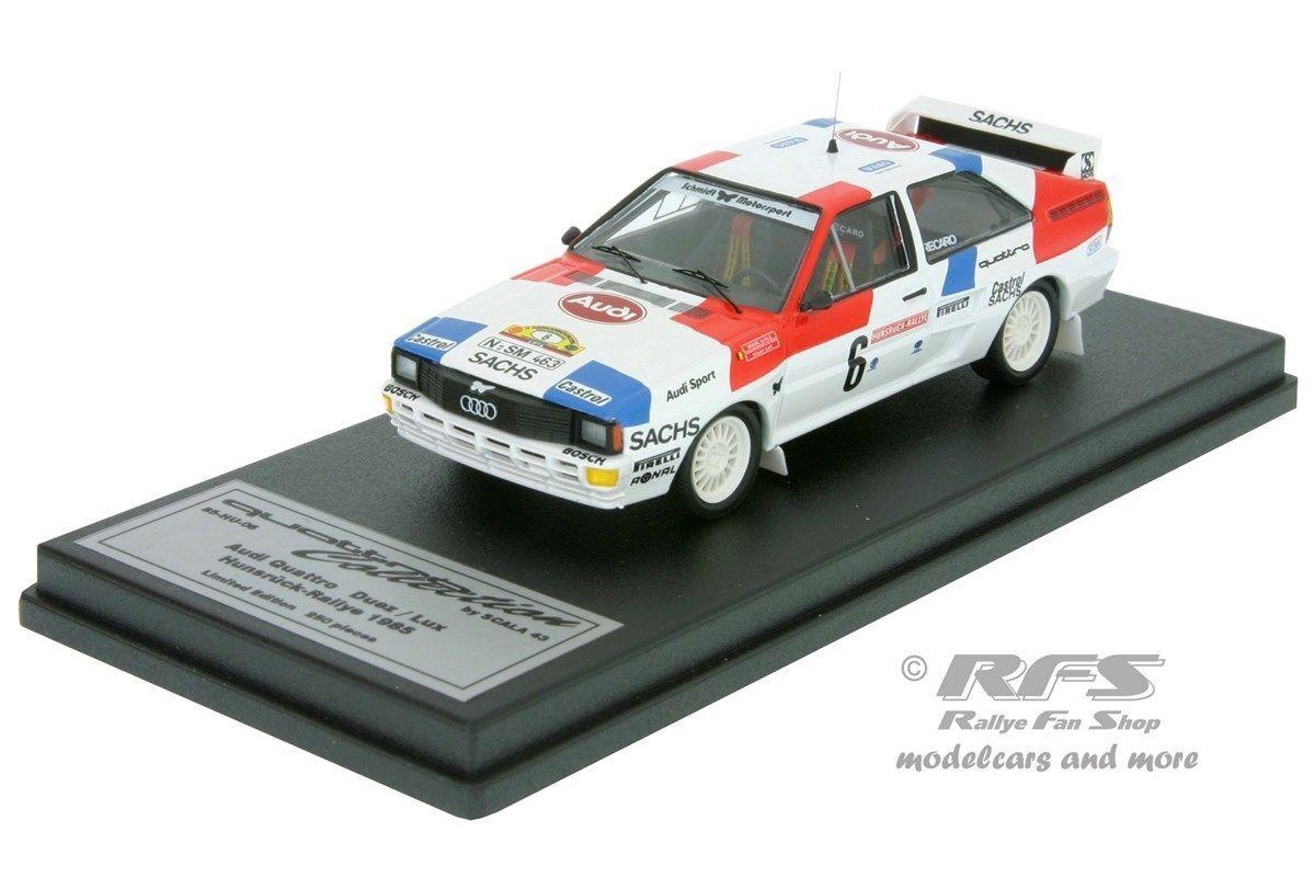Audi Quattro a2-Hunsrück rally 1985-marc duez - 1 43 Trofeu Scala 43