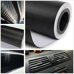 Car Pickup Exterior Decoration Black Carbon Fiber Vinyl Wrap Film Sheet Sticker Ebay