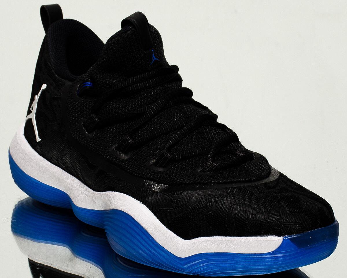 Jordan super. fly 2017 baja baloncesto zapatos nuevo negro Hyper rey azul
