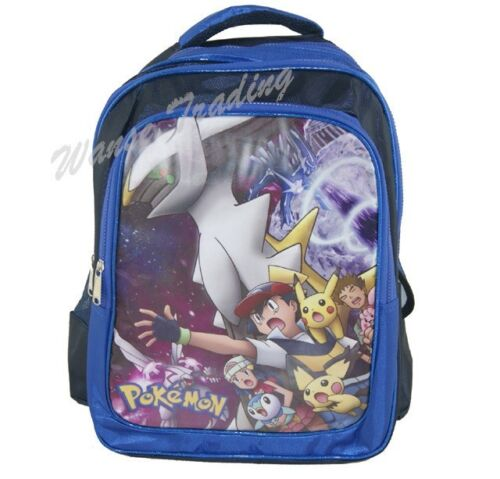 NEW POKEMON Arceus Dialga Palkia Pikachu Backpack School Book Bag blue 40CM