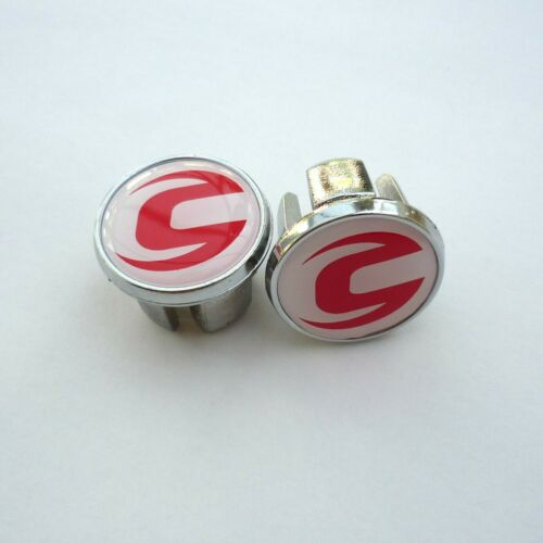 Vintage Style Cannondale Chrome Racing Bar Plugs Caps Repro