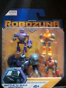 + ROBOZUNA Battle N Build Figure 6cm Series 1 Boxed Bandai Spark Burst Crank