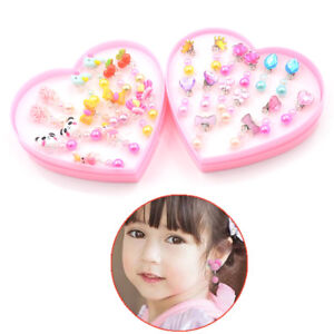 7Pair-Lovely-Acrylic-Earrings-Clip-On-No-Pierced-Designs-For-Children-Girl-GiX1F