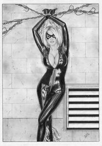 Marvel Comics Sexy Black Cat Cosplay Original Art Spiderman Gwen Venom Mary Jane Other Original Comic Art