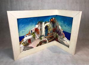 Eckleinwandbild quadro telaio in legno casa bianca eckbild italia