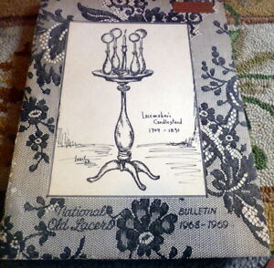Patterns & Instructional Media Antiques Rare 1968 National Old Lacers Bulletin Patterns & Articles On Lace Pleasant To The Palate