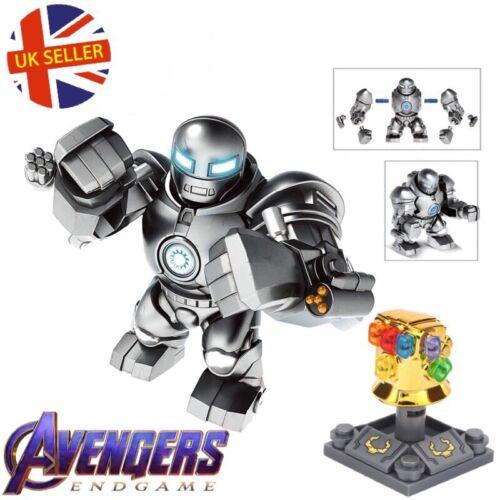 Iron Monger Figure Infinity Gauntlet Set Hulkbuster Iron Man End Game UK Seller
