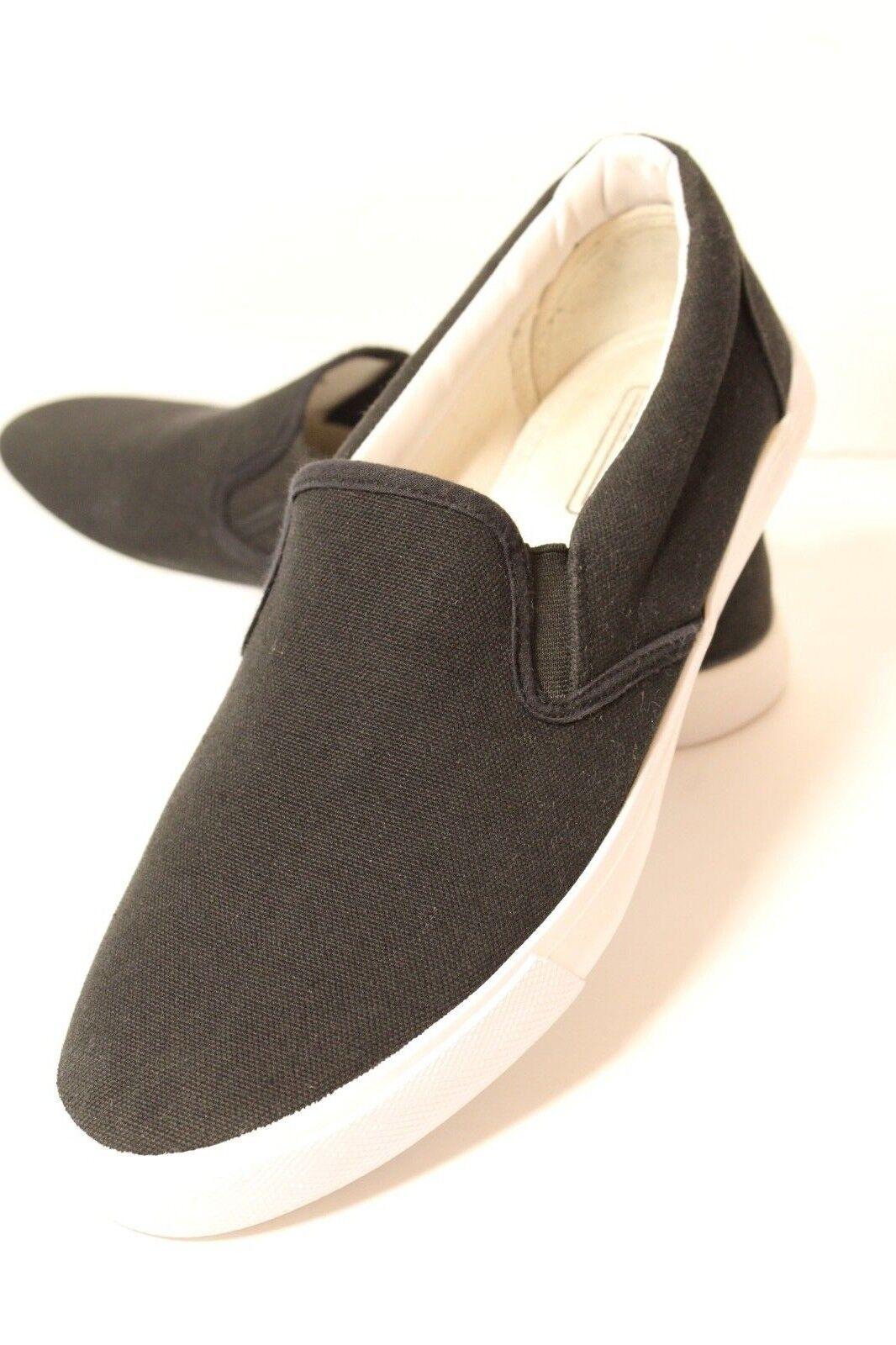5d7089da4ef6 ASOS Mens Size US 9 Slip On On On Black Canvas Slip on Sneakers 527abb