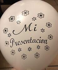 "Mi Presentacion Spanish White Latex 12"" Balloons For Party Supplies"