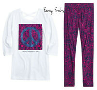 Justice Girls Peace Shirt & Leggings Set, New, 16 18 20