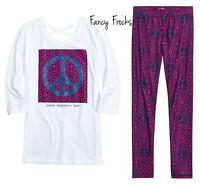 Justice Girls Peace Shirt & Leggings Set, New, 16 18 20