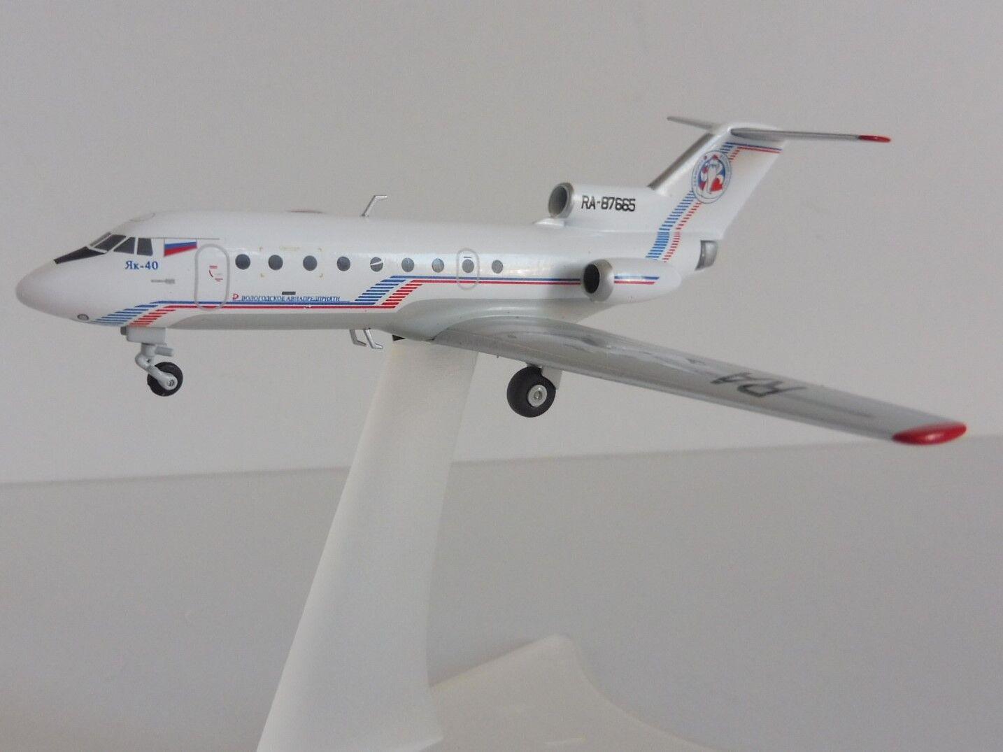 Yakovlev Yak-40 Vologda Air Société Dez Morz 1 200 Herpa 558235 Jakowlew