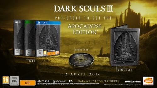 1 von 1 - Dark Souls III - Apocalypse Edition (Sony PlayStation 4, 2016)