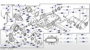 nissan c8189 03v00 oil seal front diff input flange rb26dett r32 r33 rh ebay com Turbo Diagram 300ZX Diagram