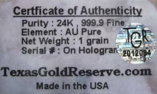 1//15th GRAM 24K PURE 999.9 FINE  GOLD BULLION  MINTED CERTIFIED BAR LOT++ 4X