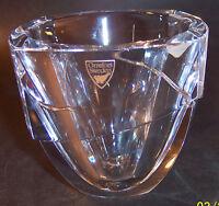 signed & sticker orrefors crystal art glass sweden vase bowl
