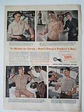 1943 vintage men's BVD pajamas underwear clothing fashion ad
