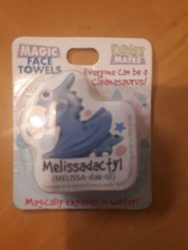 Personalised Girls /& Boys Names Dino Magic Face Cloths Birthday or Xmas Gifts