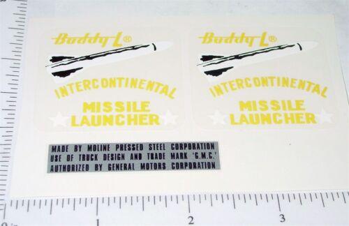Buddy L Missile Launcher Truck Sticker Set     BL-042