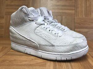 a42478adcb5371 RARE🔥 Nike Air Python Premium White Metallic Silver Sz 11 705066 ...