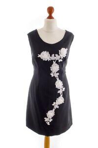 vintage orig 60er etuikleid schwarz rosen spitze rockabella kleid raffiniert 44  ebay