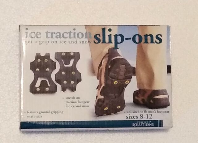 Perfect Solutions PS2545BK10ENB Ice Traction Slip-Ons Size 8-12 Men 9.5-13 Women