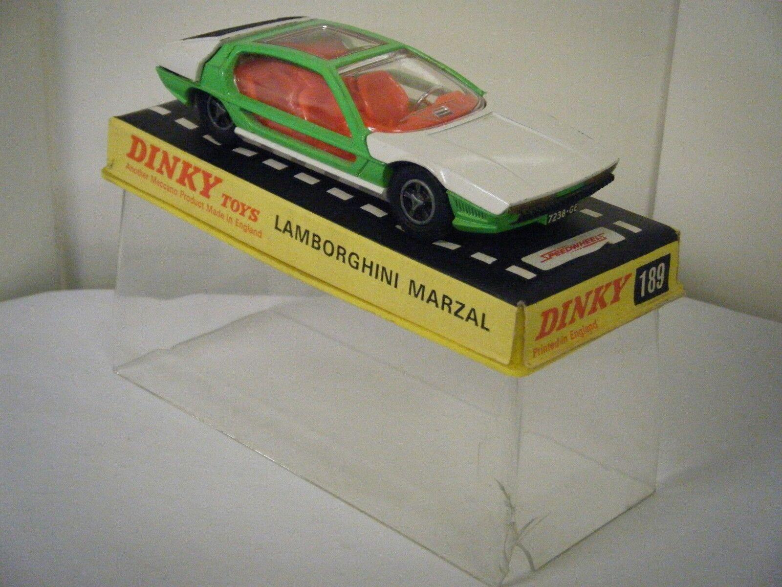 Dinky No  189  Lamborghini Marzal  - White Green (Original 1960's Boxed)