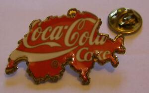 COCA-COLA-COKE-Switzerland-shape-vintage-pin