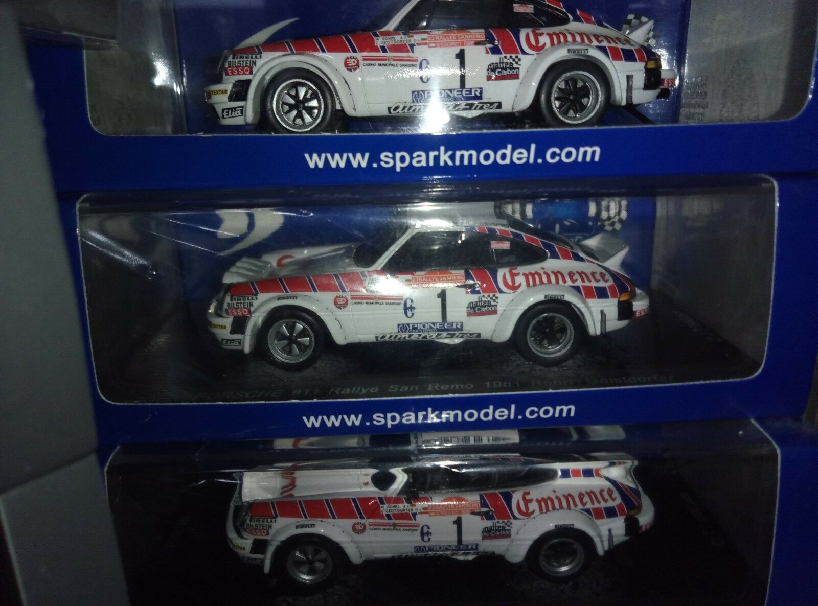 RARE  1:43 SPARK MAD001 PORSCHE 911 sc group 4 -  W. ROHRL RALLY Sanremo 1981