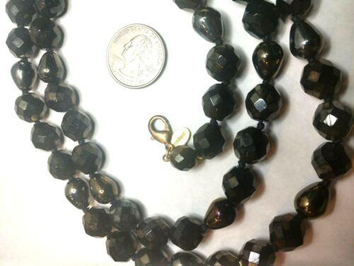 "Joan Rivers Designer 33"" Black Bead & Teardrop Pea"