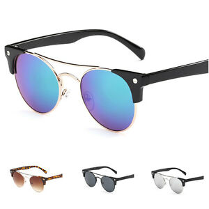 Fashion-Women-039-s-Retro-Round-Mirrored-Sunglasses-Outdoor-Glasses-Eyewear-Shade