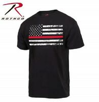 Thin Red Line Flag Support Firefighter Fire Man Emt Ems T-shirt Fire Fighter Usa